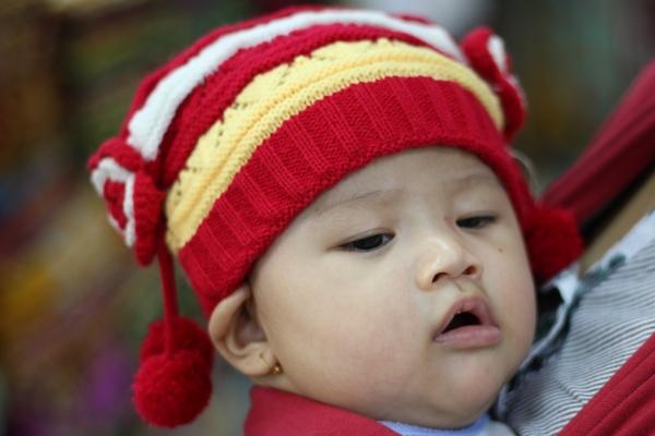Topi Bayi Merah