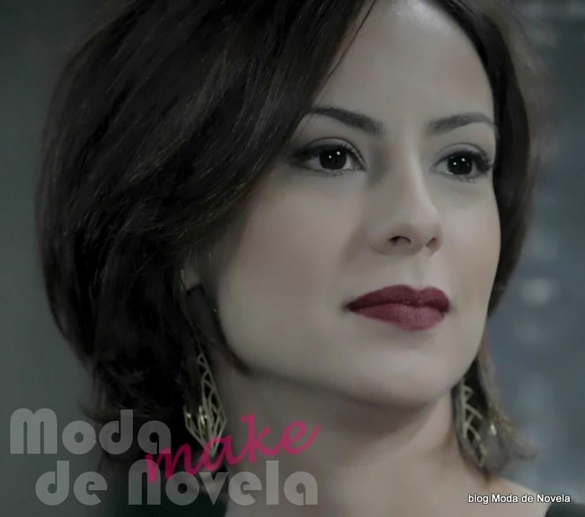 moda da novela Império, maquiagem da Maria Clara na reinauguração do restaurante