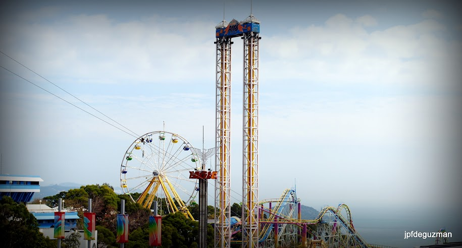 Thrill rides, viewed from Ocean Theater