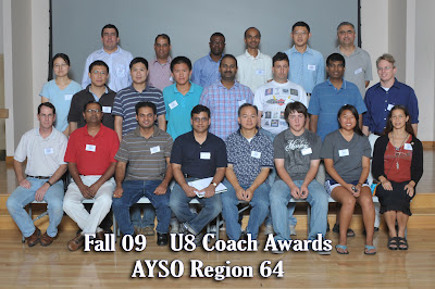 Fall 2009 U8 Coaches