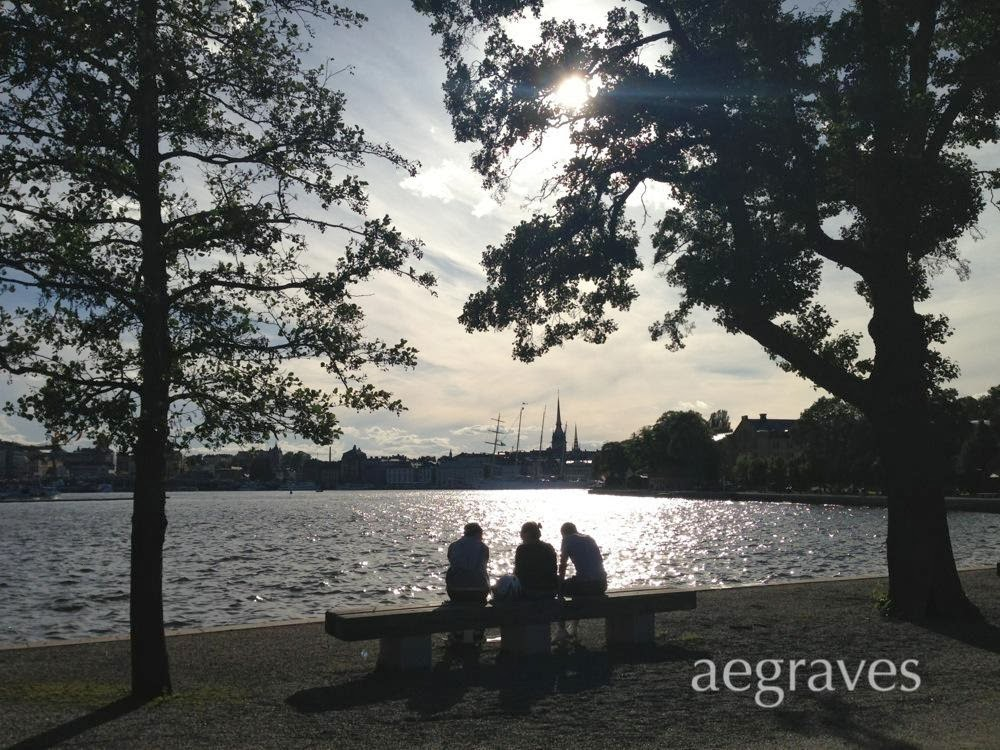 image of an outdoor scene in Stockholm, Sweden, by A.E. Graves