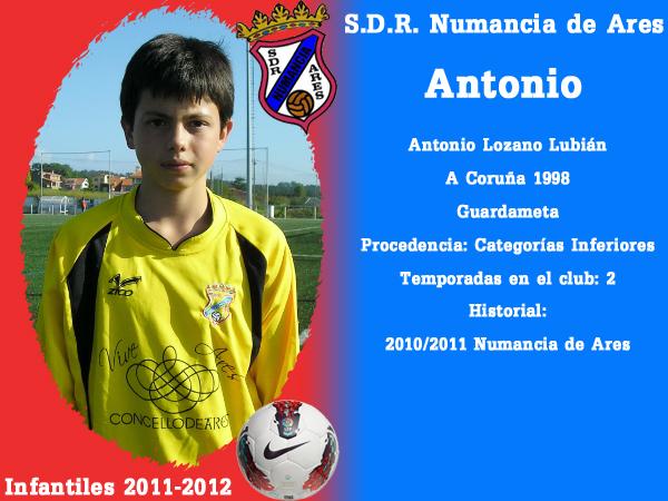 ADR Numancia de Ares. Infantís 2011-2012. ANTONIO.