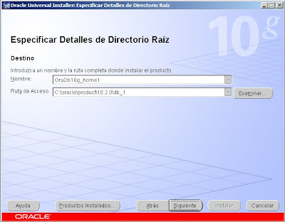 Instalar Oracle Database 10g R2 x64 en Microsoft Windows Server 2008 Standard x64