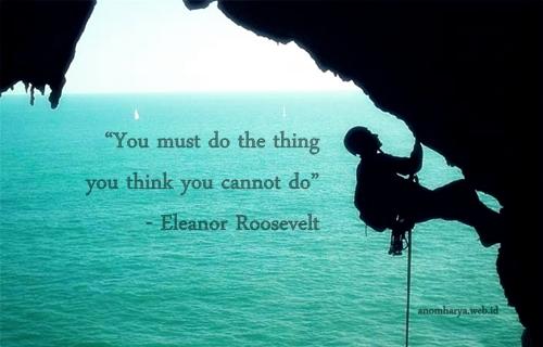 Anda harus memikirkan apa yang tidak bisa Anda lakukan.