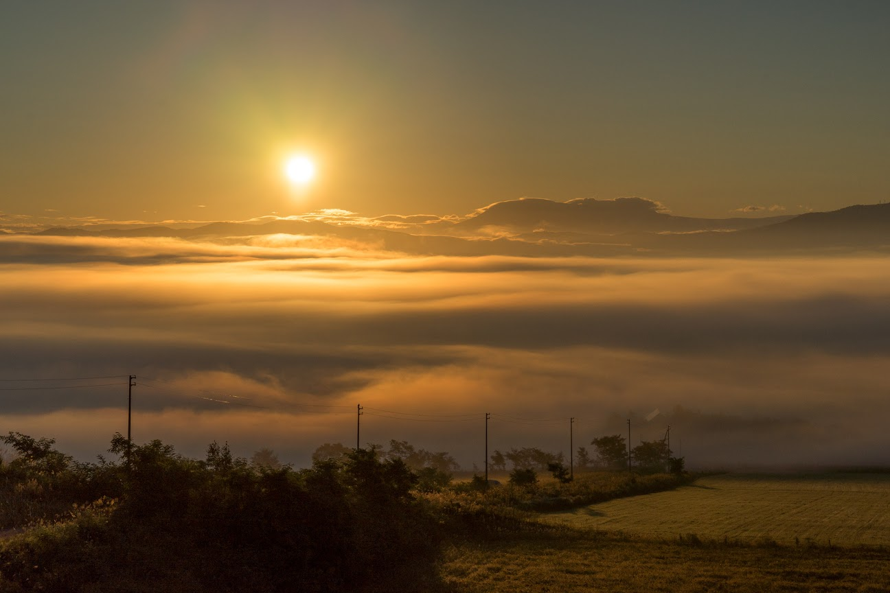 北竜町の雲海