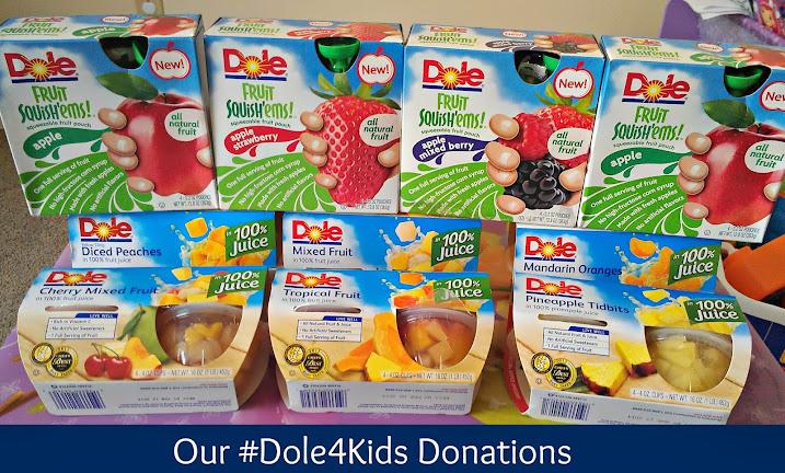 Our Dole Fruit Bowls and Dole Squish'ems Donations for #Dole4Kids #shop