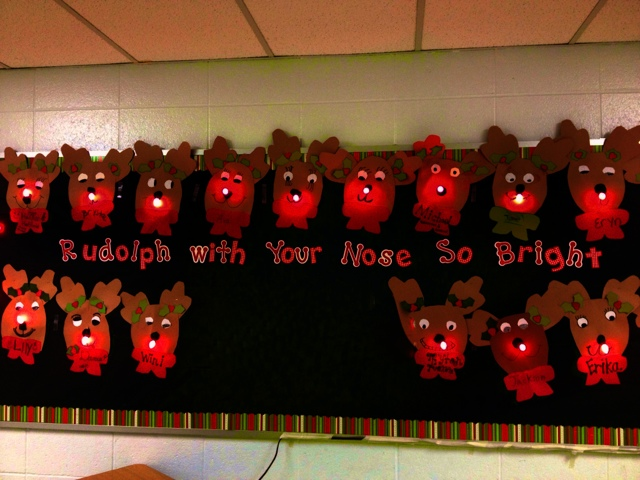 Mrs Patton S Class Rudolph With Your Nose So Bright