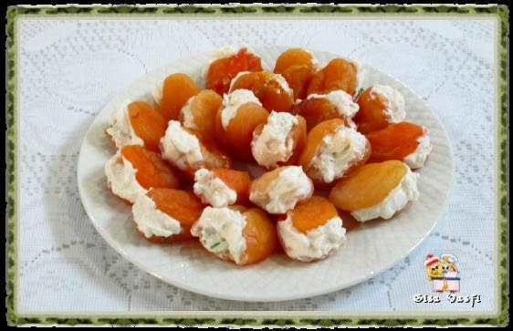 Damascos recheados com queijo 1