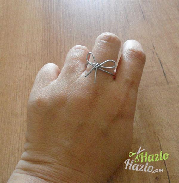 Hacer un anillo lazo