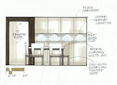 Basinger studio for Dining room elevation