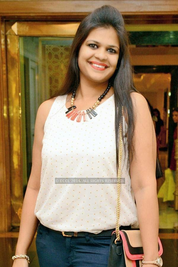 Shikha during a talent hunt event, held in Hyderabad.