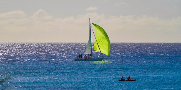 J/105 Whistler sailing offshore from Barbados