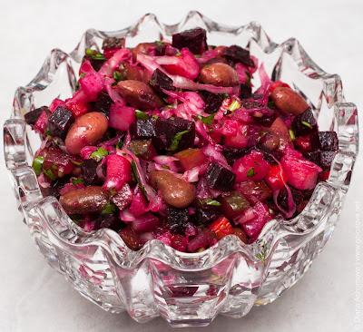 Как приготовить винегрет с фасолью
