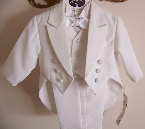 Angels Size Large Baby Boy white Tuxedo Tail Suit Christening Baptism Wedding Large /12-18 MONTHS/ L /PLAIN at Sears.com