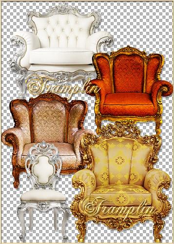Шикарные кресла с деревянным обрамлением - Splendid easy chairs with wooden framing