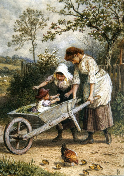 Myles Birket Foster - The Wheelbarrow