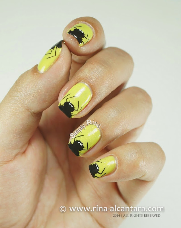 Itsy Bitsy and Hairy Spiders Halloween Nail Art with Tutorial
