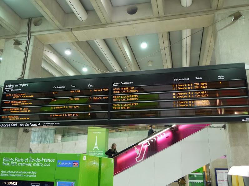 рассписание поездов Шарль де Голль