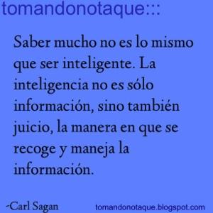 """""""frases celebres de inteligencia por Carl Sagan"""""""