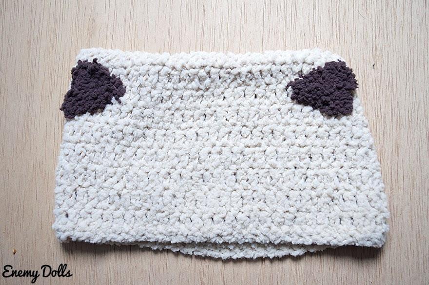 Gorro bebé sencillo punto crochet gratis