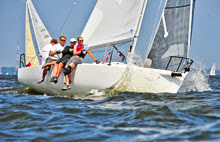 J/80 R80 sailed by Will & Marie Crump off Annapolis, MD