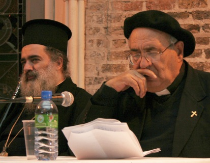 Archbishop Theodosius Hanna and Father Manuel Mussallam