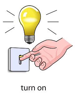 turn%2520on%2520 %2520flashcard Verb flashcard
