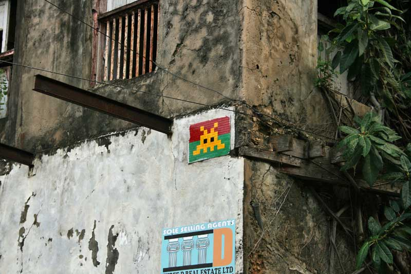 Space Invaders in Mombasa, Kenia
