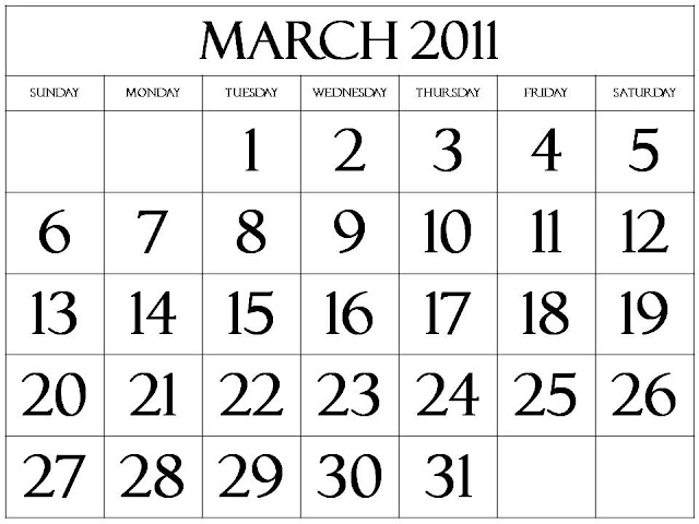 2011 monthly calendar march. Free 2011 March Calendar