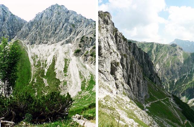 Rückblick Aufstiegsweg zum Rubihorn
