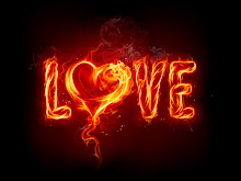black fire Hot Flaming Love Wallpaper