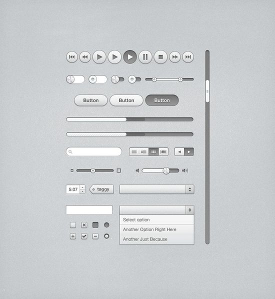 iTunes Inspired UI Kit (PSD) 20 useful UI elements PSDs