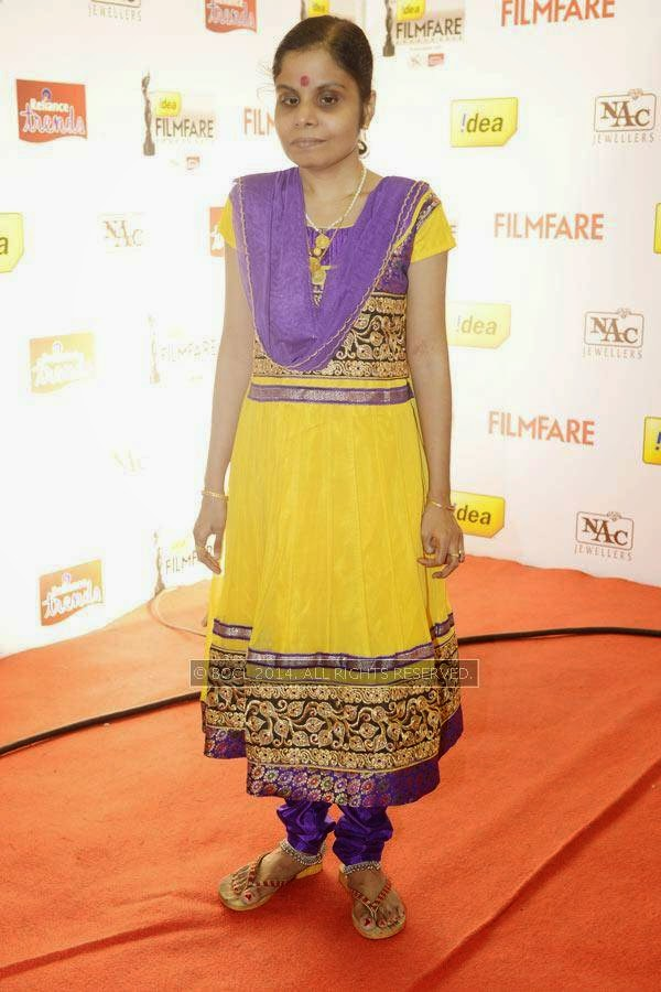 Vaikom Vijayalakshmi at the 61st Idea Filmfare Awards South, held at Jawaharlal Nehru Stadium in Chennai, on July 12, 2014