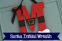 Santa Initial Wreath