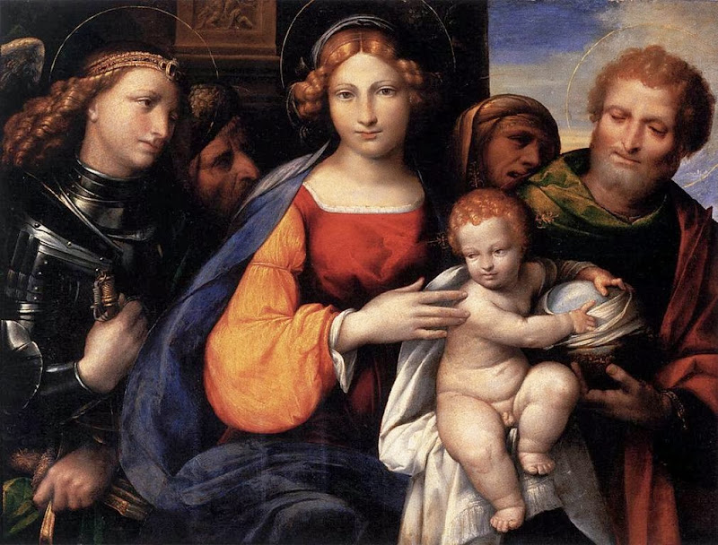 Garofalo - Virgin and Child with Saints Michael and Joseph
