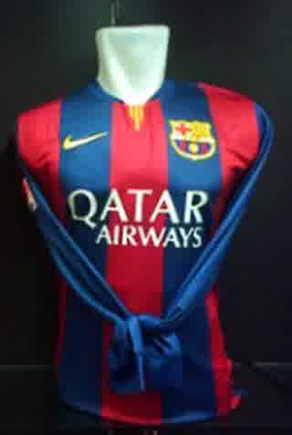 Jersey Barcelona Home Lengan Panjang 2014-2015 Official