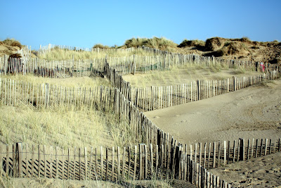 Dunes at Camber Sands Beach in East Sussex