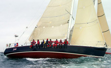 J/160 cruiser racer sailboat- sailing Swiftsure Race
