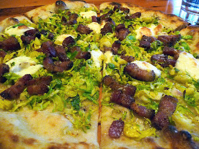 Oven and Shaker brussels sprout pizza
