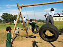 The kids really enjoy the tire swings. They've already broken them several times in the last few weeks.