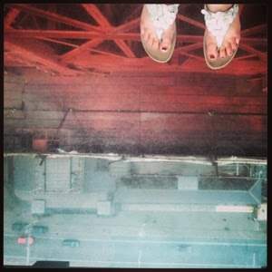 looking down from blackpool tower