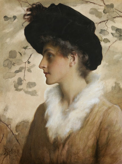 George Henry Boughton - Portrait of a lady