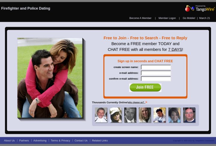 Police and firefighter dating website