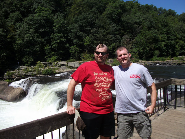 Bob and Adam at the Yough River