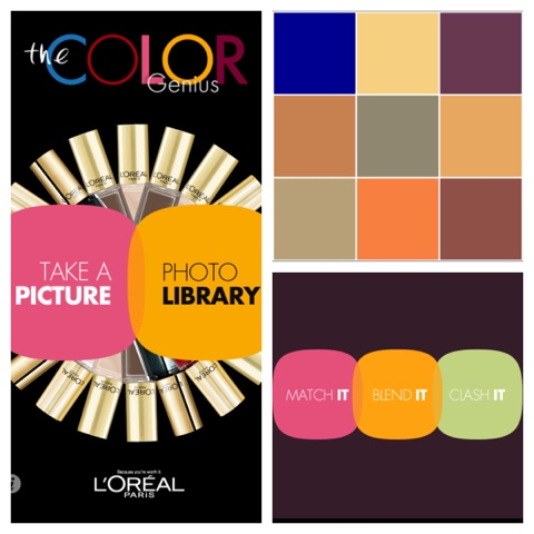 Match it, clash it, or blend it with the L'Oreal color genius app.