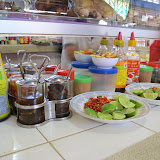 Cambodian condiments at the market