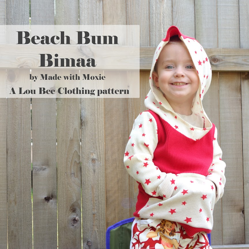 Beach Bum Bimaa hooodie and pin-up Prefontaine Shorts for boys || Made with Moxie || Sewing for boys, kids clothing sewing