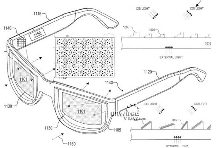 Google Glass Patent transparente Displays