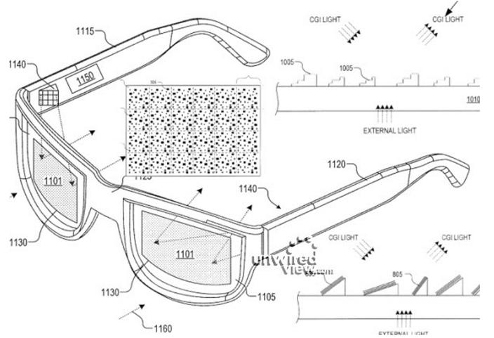 Google Glass Patent transparente Displays