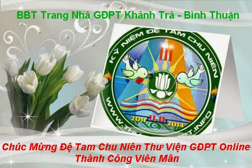 Chúc mừng Đệ Tam Chu Niên Thư Viện GĐPT thành công